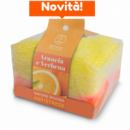 ANTISTRESS SOAP SPONGE- ORANGE ESSENTIAL OIL AND VERBENA 75GR